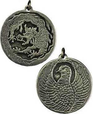 Dragon & Phoenix - Two Sided Amulet