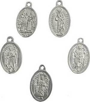 5 Archangel Amulet Set