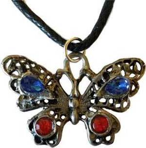 Red & Blue Butterfly Amulet