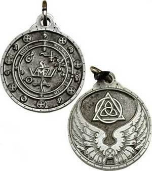 Silver Colored Saint Michael Talisman