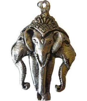 3 Headed Ganesha Amulet