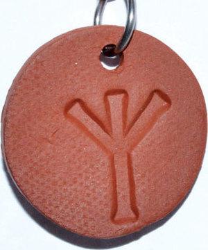 """1 1/4"""" Algiz diffuser amulet"""
