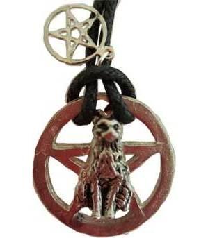 Pentagram & Black Cat Amulet