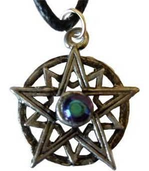 Double Pentagram Crystal Amulet