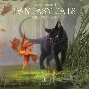 2019 Fantasy Cats Calendar by Llewellyn