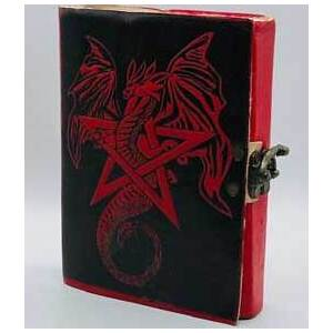 red Dragon leather blank book w/ latch