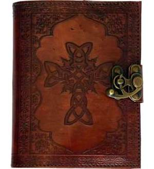 Celtic Cross Leather with Latch