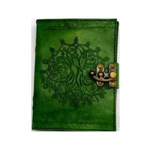 Green Tree of Life Leather with Latch