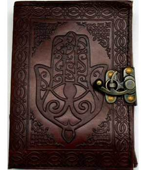 Hamsa Hand Leather with Latch