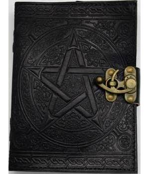 Black Pentagram Leather with Latch