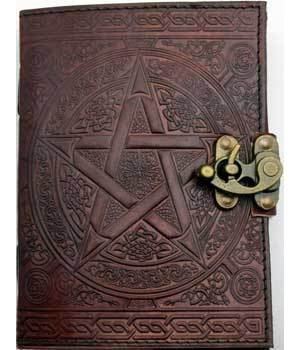 Brown Pentagram Leather with Latch