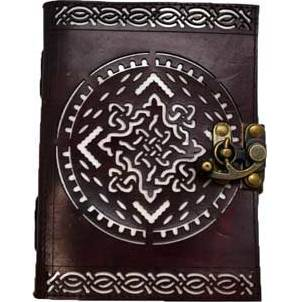 Celtic Knot (die cut) leather blank book w/ latch