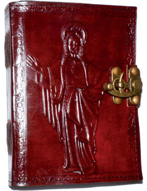 Jesus leather blank book w/ latch
