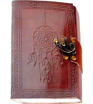 "5"" x 7"" Dream Catcher Embossed leather w/ cord"