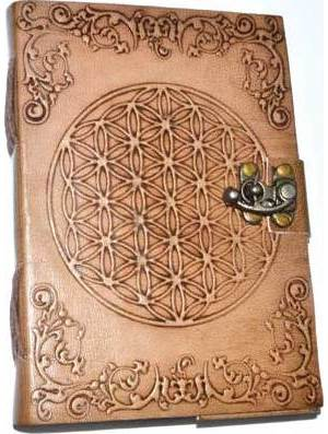 "5"" x 7"" Flower of Life Embossed leather w/ latch"