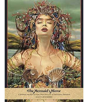 Mermaid's Mirror lined journal by Lucy Cavendish
