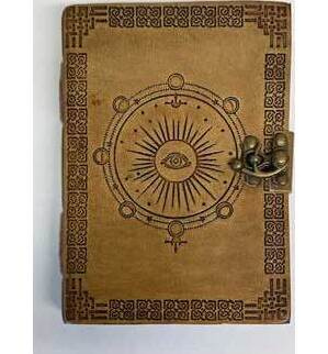 """5"""" x 7"""" Moon Phase Embossed leather w/ latch"""