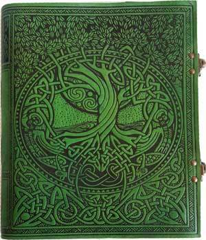 Tree of Life Green Leather with Latch