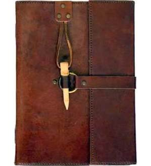 Leather with Peg Closure