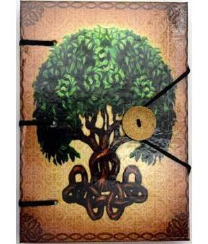 "Brigid Ashwood Tree of Life journal 4 1/2"" x 6 1/2"" handmade parchment"