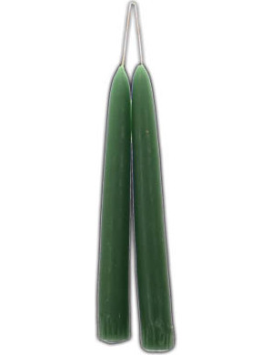 Sage Taper Candle Pair 7""