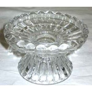 Fluted Glass Candle Holder