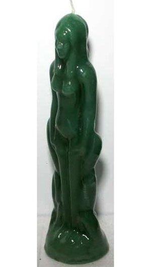Green Female Figure Candle