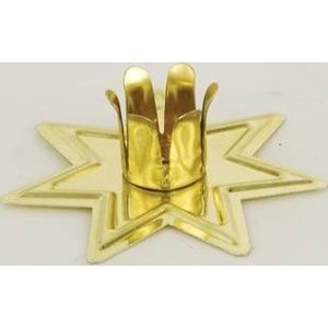 Gold-toned Fairy Star Chime Candle Holder