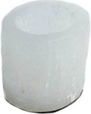 """2 1/2"""" Selenite Round tealight holder"""
