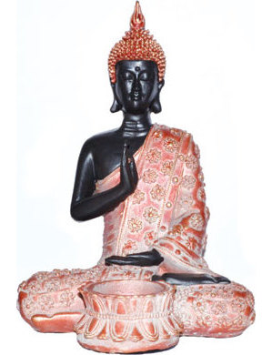 Sitting Buddha Tealight Holder