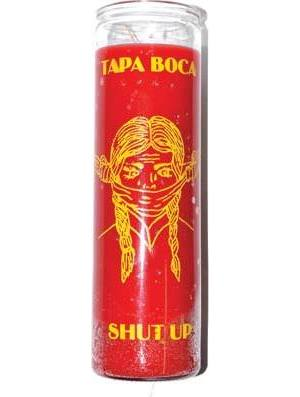 Shut Up red 7 day jar candle