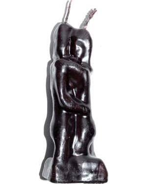 "5 1/2"" Lovers black candle"