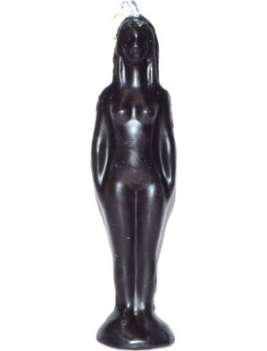 "7 1/4"" Black Woman candle"