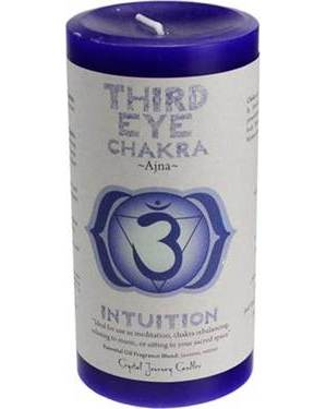Thrid Eye Chakra Pillar Candle