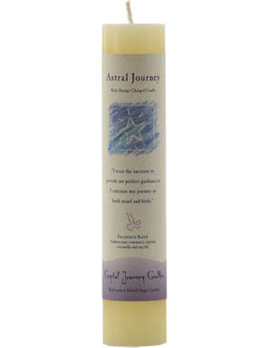 Astral Journeys Reiki Pillar Candle