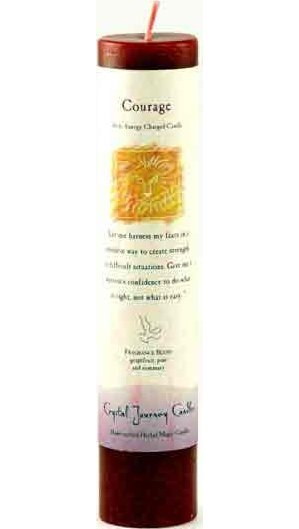 Courage Reiki Pillar Candle