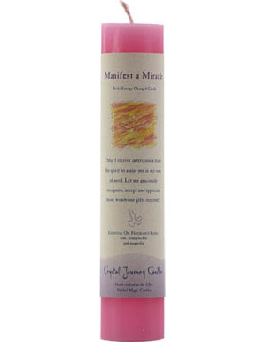 Manifest Miracle Pillar Candle