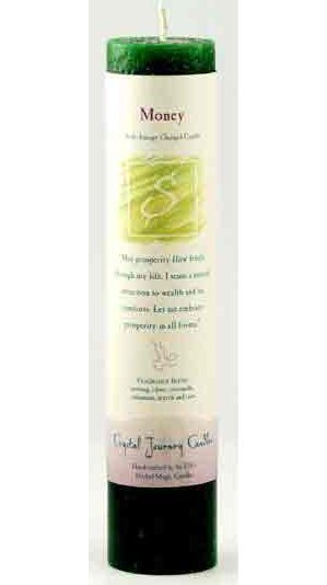 Money Reiki Pillar Candle
