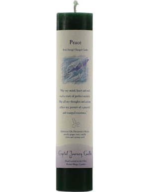 Peace Reiki Pillar Candle