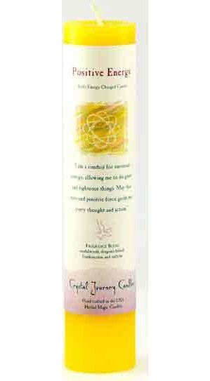 Positive Energy Reiki Pillar Candle