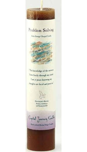 Problem Solving Reiki Pillar Candle