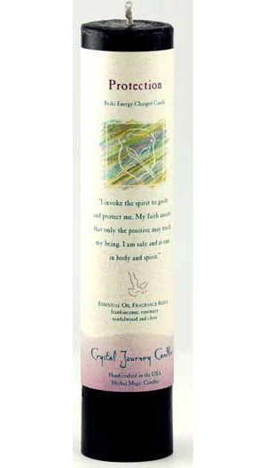 Protection Reiki Pillar Candle