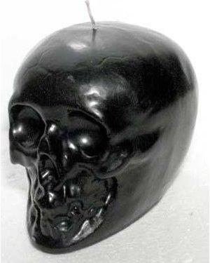 "Black Skull Candle 3.5"""