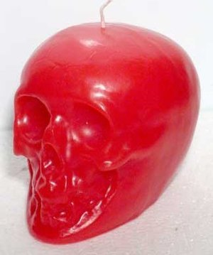 Red Skull Candle 3.5""