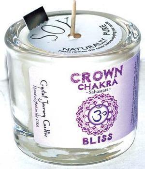 Crown chakra soy votive candle