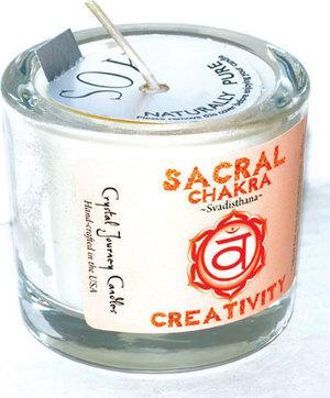 Sacral chakra soy votive candle