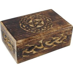 "Celtic Circle Pentagram Box 4"" x 6"""