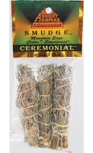 """Ceremonial Smudge Stick 3-Pk 4"""""""