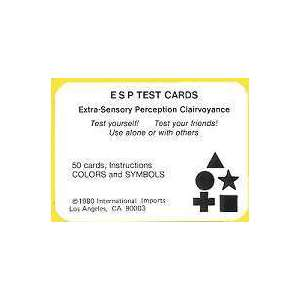 Esp Test Cards Deck