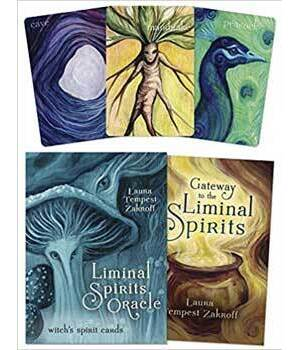 Liminal Spirits oracle,Witch's Spirit Cards by Laura Tempes Zakroff